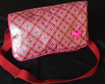 coated cotton retro Messenger bag