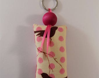 Birds and hearts pattern keychain