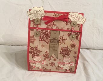 Preparation gingerbread scrapbooking idea Christmas gift wrapping Kit