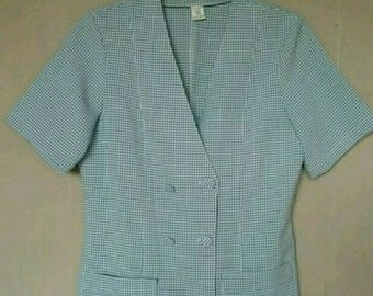 Blouse-blouse Vintage gingham in very good condition