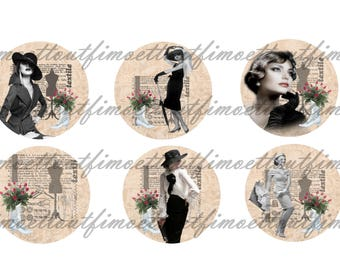 Image (minimum) 42 digital victim of fashion/retro/vintage(envoi mail) cabochon