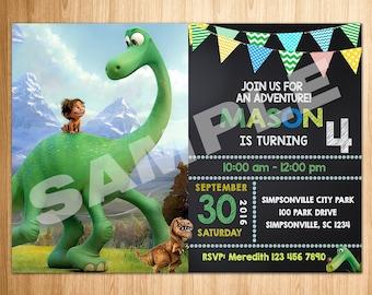 The Good Dinosaur Invitation