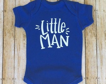 Little Man Baby Boy One Piece, Baby Boy Outfit, Little Man