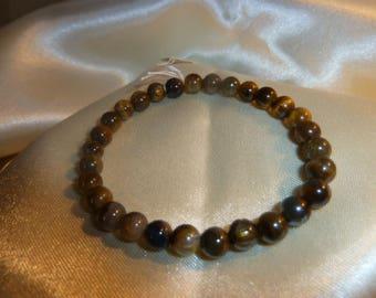 Genuine Tiger eye GEMSTONE bracelet