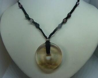 Genuine FLUORITE gemstone pendant