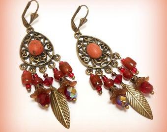 """Autumn perfume"" Gypsy earrings"