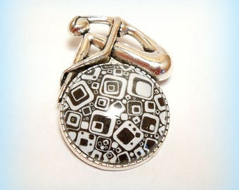 """Pop - pattern"" glass cabochon brooch"