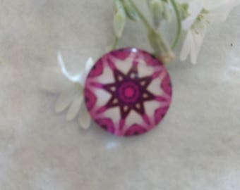Cabochon glass 20 mm star