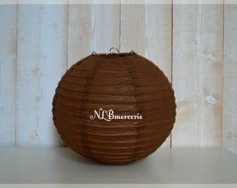Brown diameter 35 cm rice paper Lantern balls Chinese Lantern