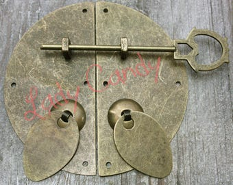 Set of 2 Japanese Style old furniture Asian #120087 latch locks
