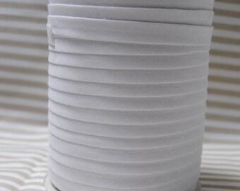 White bias, plain cotton folded 9/4/4, white, different colors