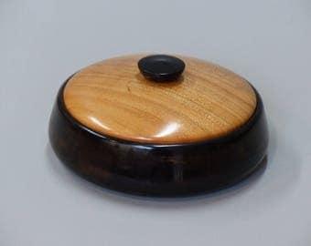 Turned wood jewelry box