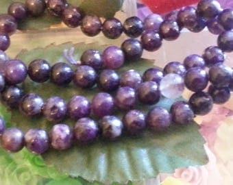 son of 66 mica beads purple 6 mm diameter hole 1 mm