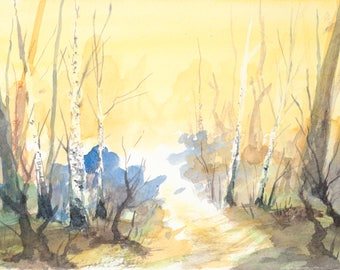 Birch Grove, Art Print
