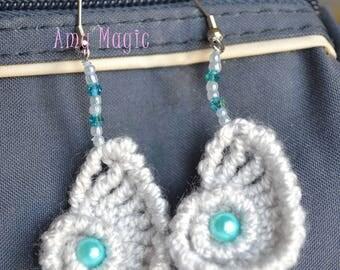 The pair of beaded Ammonite