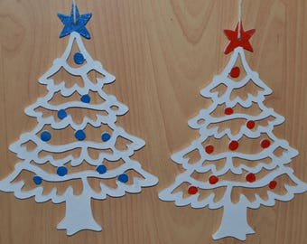 Christmas trees shaped wooden