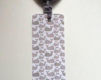 Whales tassel bookmark