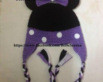 """Hat """"little mouse violet"""" crochet"""