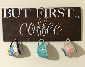 Coffee Sign Mug Holder