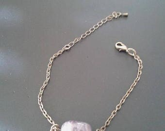 Bronze, Amethyst bracelet and charm