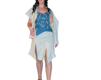 Skirt * straw * - linen - size 40 only