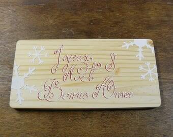 Happy holidays pine plaque