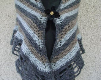 Mohair, wool, acrylic, soft and warm shawl