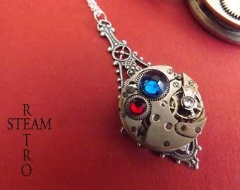 The Marseillaise Service Locket Steampunk necklace - Steampunk jewelry - Steampunk jewelry by Steamretro