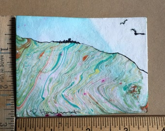 Far Away miniature painting OOAK