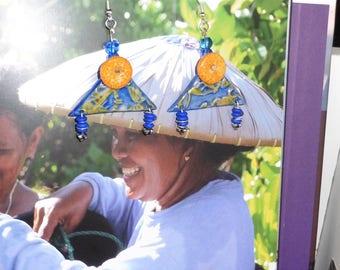 """Caribbean"" blue earrings"