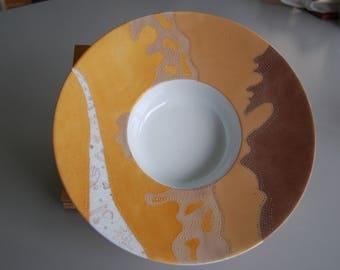 Plate for dessert on a porcelain original