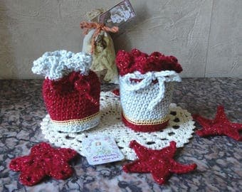 Pair of small bags or purses made of cotton