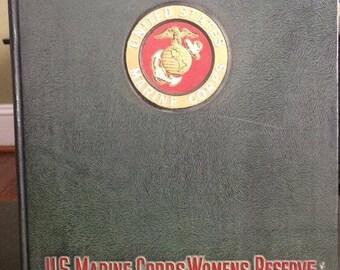 WW2 USMCWR Women Marine year book Camp Lejeune, NC