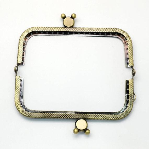 1 door clasp coin - bronze - size: 60 x 107 mm x 11 mm