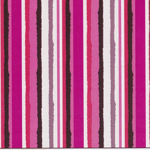 Fabric striped cotton in shades of pink, coupon 50 x 47 cm