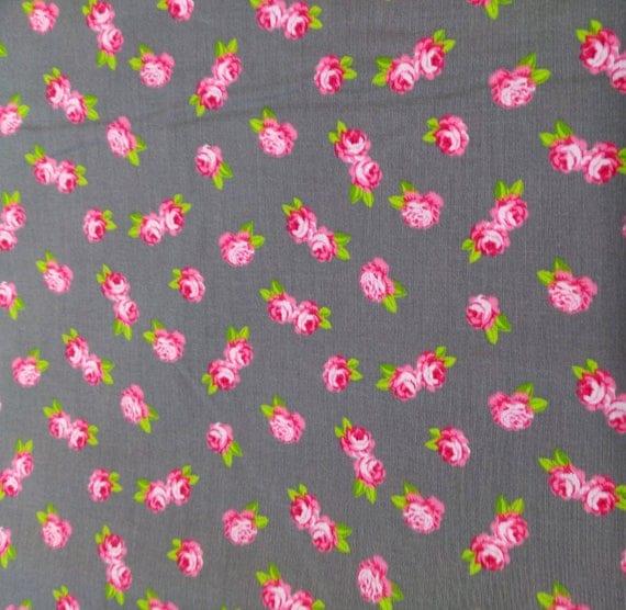 """Little rose"" pattern fabric cotton - coupon 50 x 55 cm"