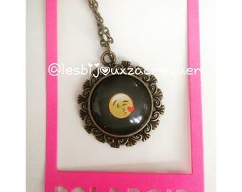 Emoji bronze cameo necklace 9