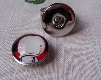 a button pressure 18 mm pretty little girl smile