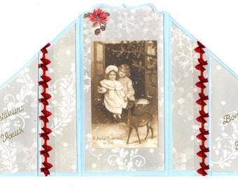 326 greeting card best wishes children 1900