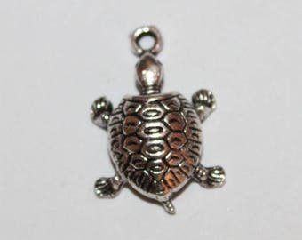 Turtle charm 22 * 19 mm, set of 5