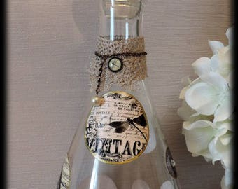 "Shabby chic ""Nostalgia"" decanter"