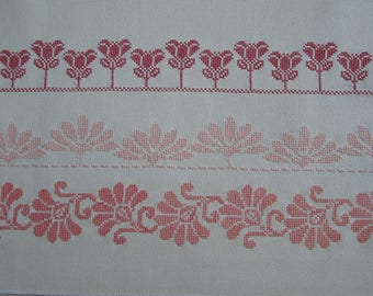 Embroidery friezes stylized cross stitch