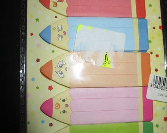 set of blocks notes manga pencils mood stickers