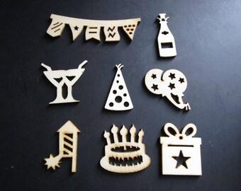 set of 8 craft theme birthday parties