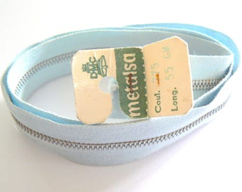 sky blue zipper 55cm Dmc Metalsa No. 775 50-70 years