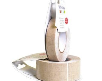 Ruban adhésif en lin - 30 mm x 5 m - Artemio - Ref 13080013 ---------- Jusqu'à épuisement du stock !