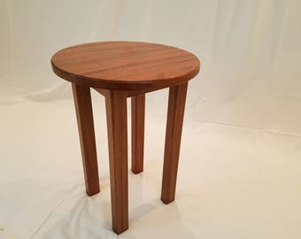 African Mahogany Occasional Table