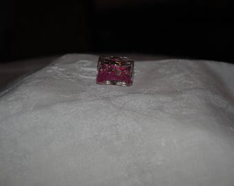 Jewelry with rectangular pink microballs