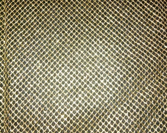 PLAIN gold wire mesh fabric Gold 30 X 30 cm