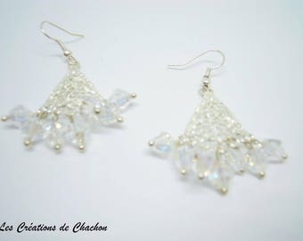 These earrings shine Crystal faceted beads